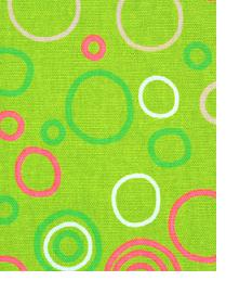 Green Circles and Swirls Fabric  Circles Chartreuse Maggie