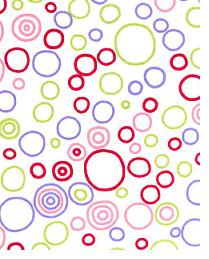 Premier Prints Circles Spring Fabric