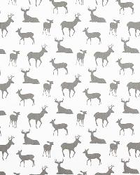 Premier Prints Deer Silhouette White Storm Tw Fabric