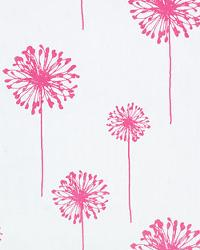Pink Medium Print Floral Fabric  Dandelion White Candy Pink