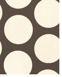 Beige Circles and Swirls Fabric  Dandie Chocolate Natural