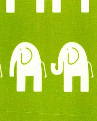 Green Jungle Safari Fabric  Ele Chartreuse White