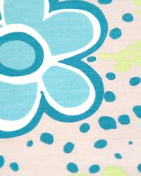 Modern Floral Designs Fabric  Flower Power Harmony Green Twill