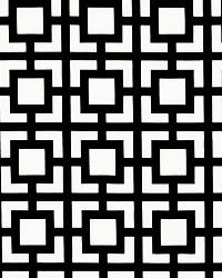 Black Trellis Diamond Fabric  GiGi Black Macon