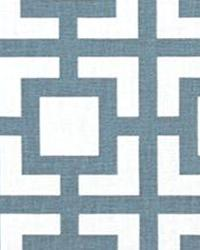 Blue Trellis Diamond Fabric  GiGi Cashmere Blue