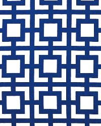 Blue Trellis Diamond Fabric  GiGi Cobalt