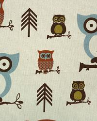 Premier Prints Hooty Village Natural Fabric