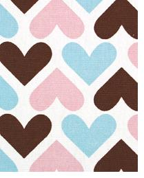 Premier Prints I Heart U Maggie - French Blue Fabric
