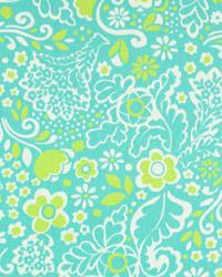 Modern Floral Designs Fabric  Jenn Harmony Green Twill