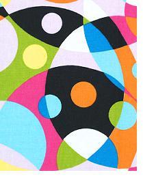 Multi Funky Fabric  Kaleidoscope Wild