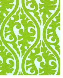 Green Circles and Swirls Fabric  Kimono Chartreuse White