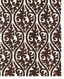 Brown Circles and Swirls Fabric  Kimono Chocolate - White Slub