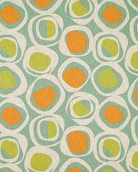 Orange Circles and Swirls Fabric  Chase Ridgeland Laken