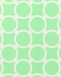 Green Circles and Swirls Fabric  Linked Mint Twill