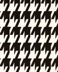 Large Houndstooth Black White by