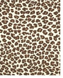 Premier Prints Leopard Chocolate Natural Fabric