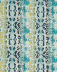 Blue Modern Floral Designs Fabric  Mali Frost/Birch
