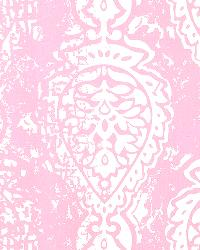Pink Modern Floral Designs Fabric  Manchester Bella Twill