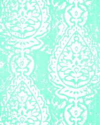 Green Modern Floral Designs Fabric  Manchester Mint/Twill
