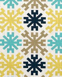 Yellow Modern Floral Designs Fabric  Mayan Dallas/Miller