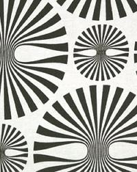 Black Circles and Swirls Fabric  Media White Black