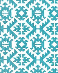Blue Navajo Print Fabric  Pawnee Coastal Blue