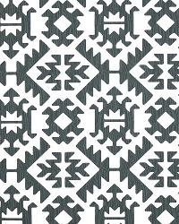 Grey Navajo Print Fabric  Pawnee Gunmetal Twill