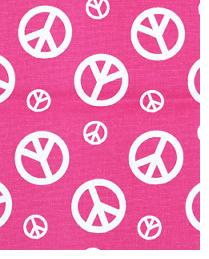 Peace Candy Pink - White by  Premier Prints
