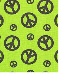 Premier Prints Peace Chartreuse Chocolate Fabric