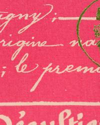 Pink Word Fabrics  Penmanship Gumdrop Pink Natural