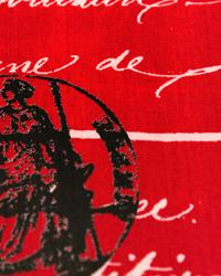 Red Word Fabrics  Penmanship Sherbert Twill