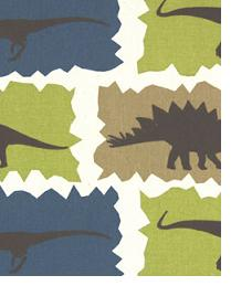 Premier Prints Rex Stellar Blue - Natural Fabric