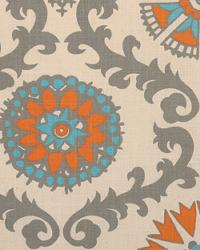Orange Suzani Fabric  Rosa Manderin Dossett