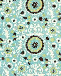 Blue Medium Print Floral Fabric  Royal Chocolate Natural