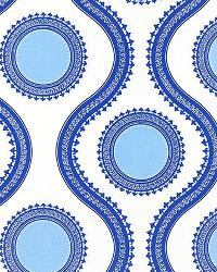 Blue Circles and Swirls Fabric  Susette Cobalt
