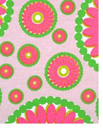 Pink Circles and Swirls Fabric  Serendipity Maggie