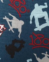 Premier Prints Skate Blue Steel Fabric