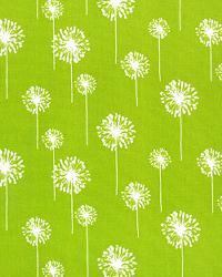 Green Small Print Floral Fabric  Small Dandelion Chartreuse White