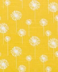 Yellow Small Print Floral Fabric  Small Dandelion Corn Yellow Slub