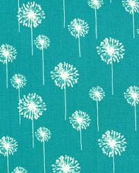 Blue Small Print Floral Fabric  Small Dandelion True Turquoise