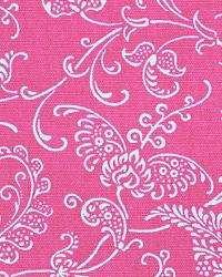 Pink Classic Paisley Fabric  Small Paisley Candy Pink White
