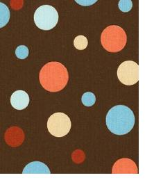 Brown Circles and Swirls Fabric  Spirodots Chocolate Spa