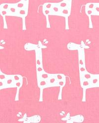 Pink Jungle Safari Fabric  Stretch Baby Pink White