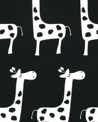 Black Jungle Safari Fabric  Stretch Black