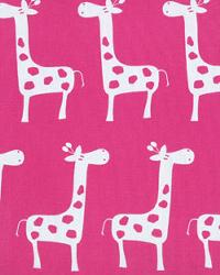 Pink Jungle Safari Fabric  Stretch Candy Pink White
