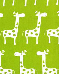 Green Jungle Safari Fabric  Stretch Chartreuse White