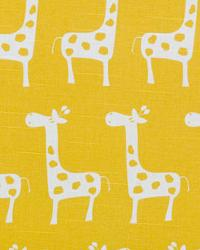 Yellow Jungle Safari Fabric  Stretch Corn Yellow Slub