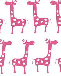 Pink Jungle Safari Fabric  Stretch White Candy Pink