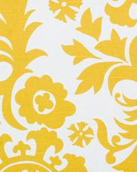 Yellow Suzani Fabric  Suzani Corn Yellow Slub