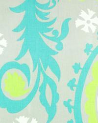 Suzani Fabric  Suzani Harmony Green Twill